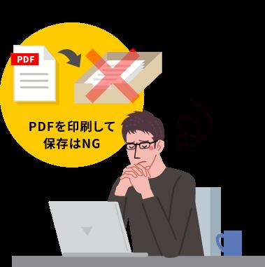 PDFを印刷して保存はNG