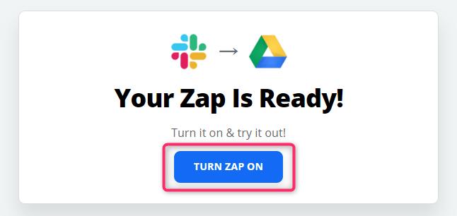 ZapをON