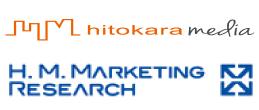 ヒトカラメディアとH.M.マーケティングリサーチのロゴ