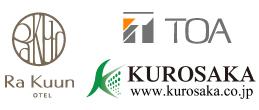TOAとRaKuunとKUROSAKAのロゴ