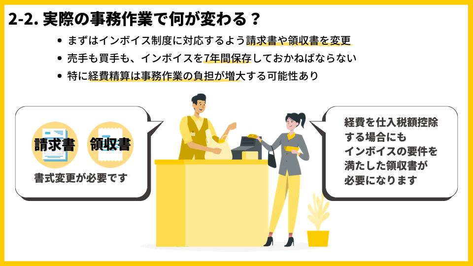 2-2_インボイス制度により実際の事務作業で何が変わる?