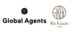 Global AgentsとRaKuunのロゴ