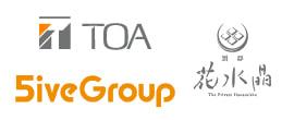 TOAとファイブグループと花水晶のロゴ